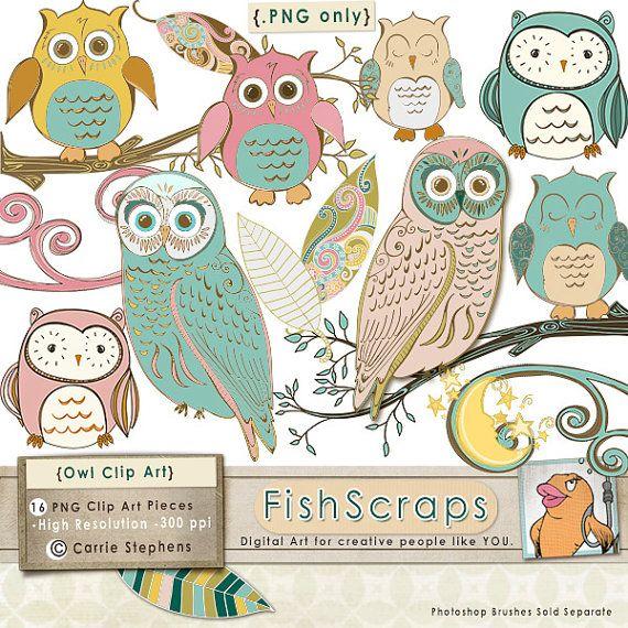 Owl clipart vintage Whimsical art Pinterest Clip clip