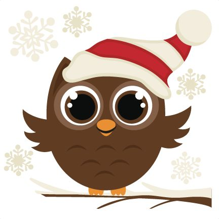 Owlet clipart winter Owl Owl file christmas images