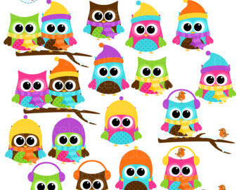 Owlet clipart winter Clipart Owls art owl with