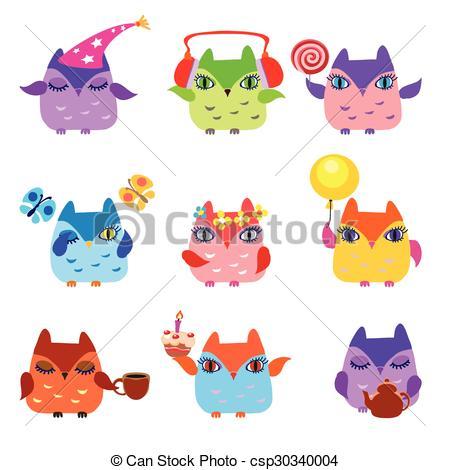 Owlet clipart birthday party Cute owlets owl Little teapot