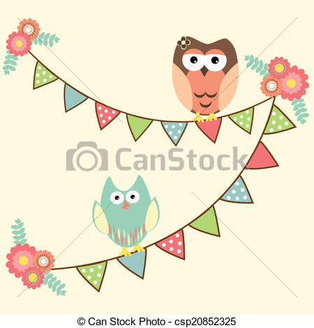 Owlet clipart birthday party Owls Illustration Cute csp20852325