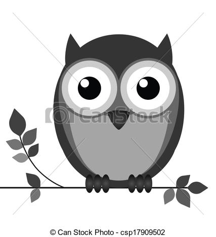 Owlet clipart black and white Nocturnal  Vector 277 Wise