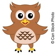 Owlet clipart brown Or mascot style owl Vector