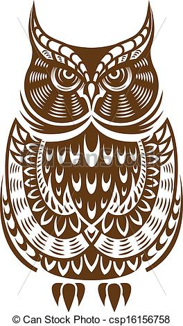 Owlet clipart brown Isolated ornament with of