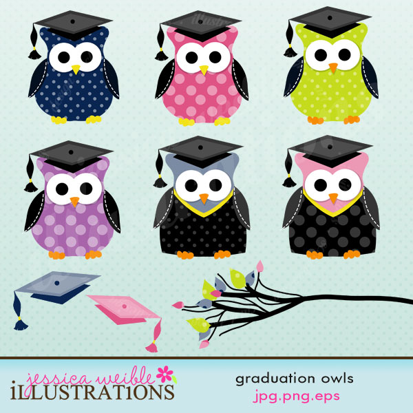 Owlet clipart education Comes cute owls with graduation