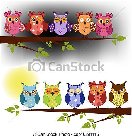 Owlet clipart family tree Free at owls night Owlet