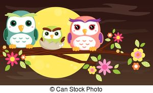 Owlet clipart family tree Tree Family isolated background on