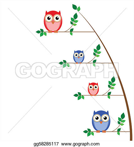 Owlet clipart family tree Gg58285117 background Owl Stock Clip