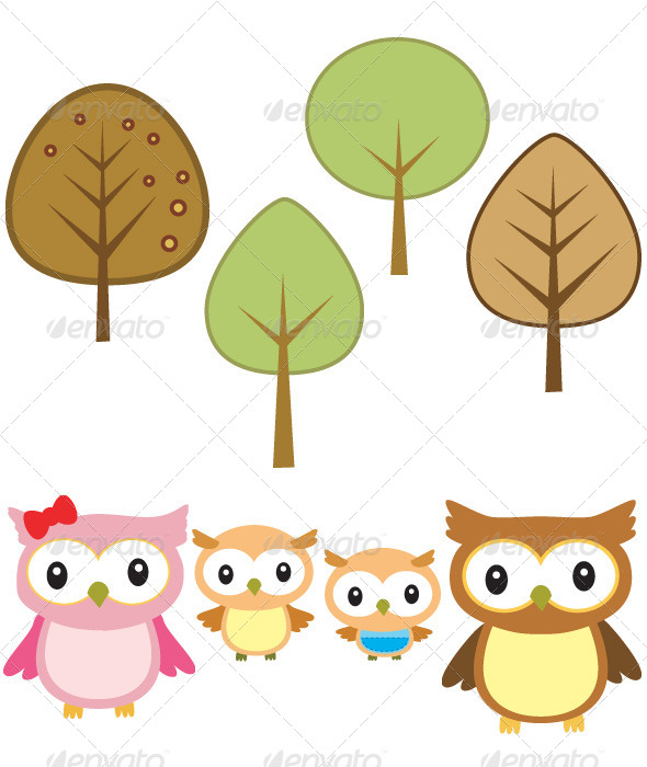 Owlet clipart family tree Family and 4 Owl and