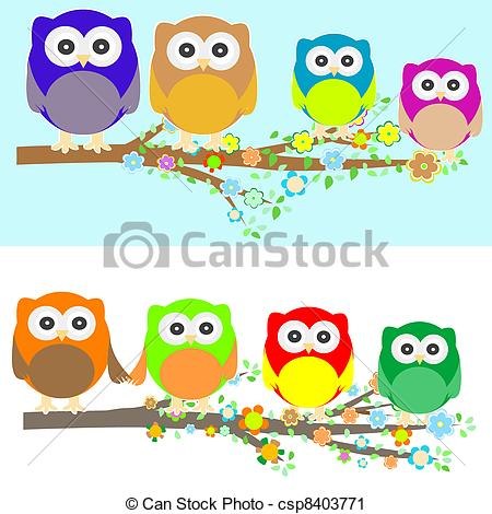 Owlet clipart family tree At of branch Clip Family
