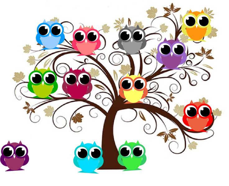 Owlet clipart family tree Notecards! Journal: Owl 86 on