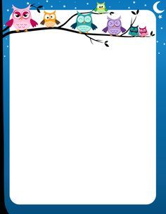 Owlet clipart frame Owls and with on limb