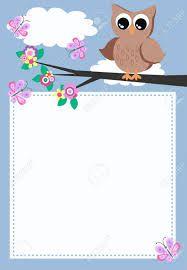 Owlet clipart frame Best on Google 25+ ideas