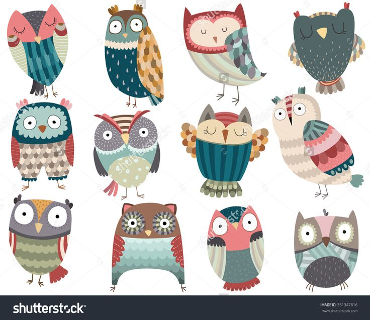 Owlet clipart friend Friends on Colorful Cute Vector