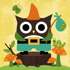 Owlet clipart hanukkah Gnome a Print 00 Owl