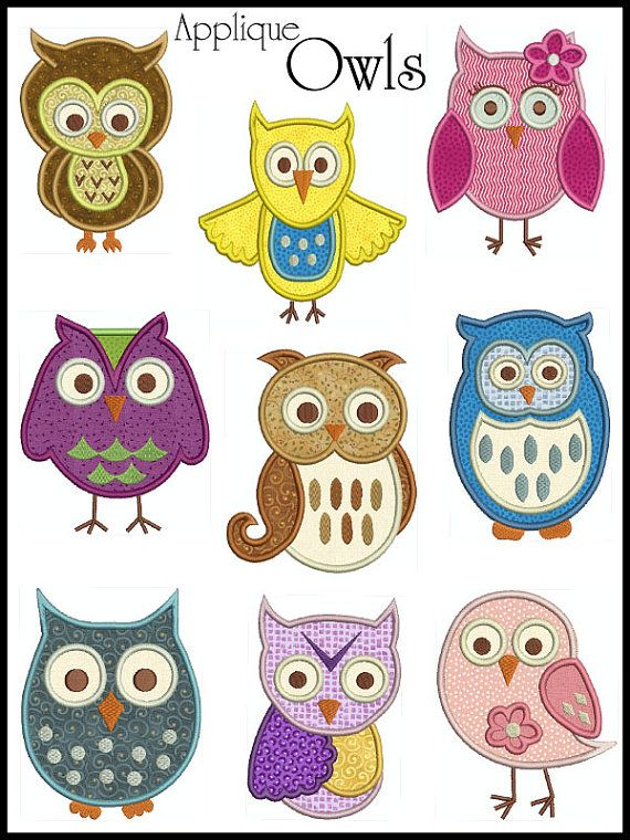 Owlet clipart hanukkah Embroidery Bird Digital OWLS Applique