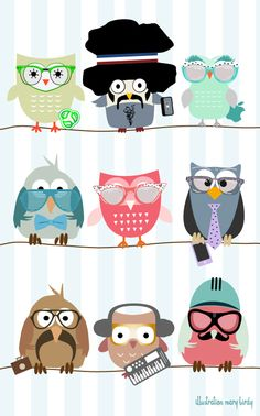 Owlet clipart hipster Little Owl by Mary Wood