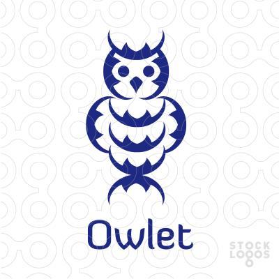 Owlet clipart logo Logo For Customizable [title] StockLogos