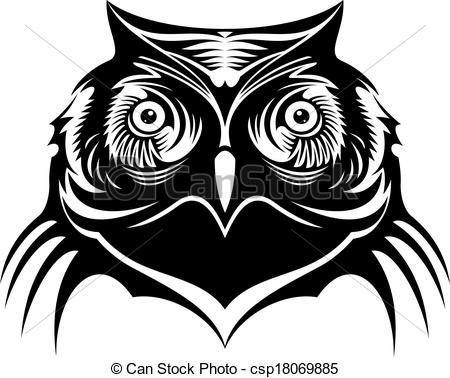 Owlet clipart logo Black old old white sketch