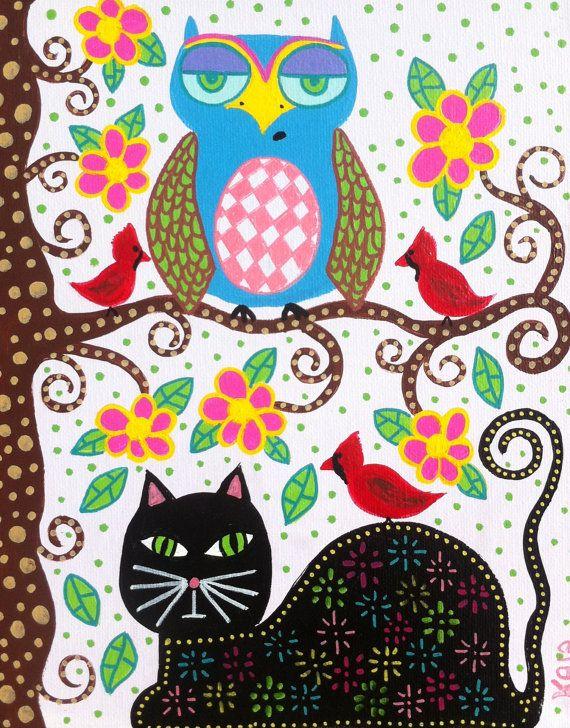 Owlet clipart mexican Ambrosino Art Black Red Kerri