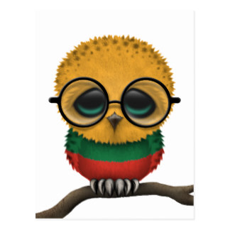 Owlet clipart hipster Chic Nerdy Lithuanian Baby Postcard