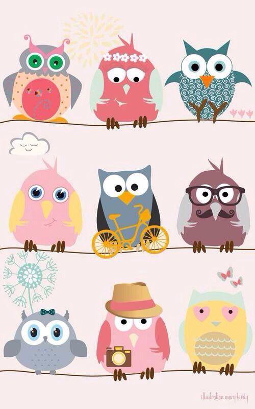 Owlet clipart pastel It We https://weheartit vía Heart
