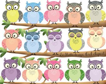 Owlet clipart pastel Pastel owl Etsy owls owl