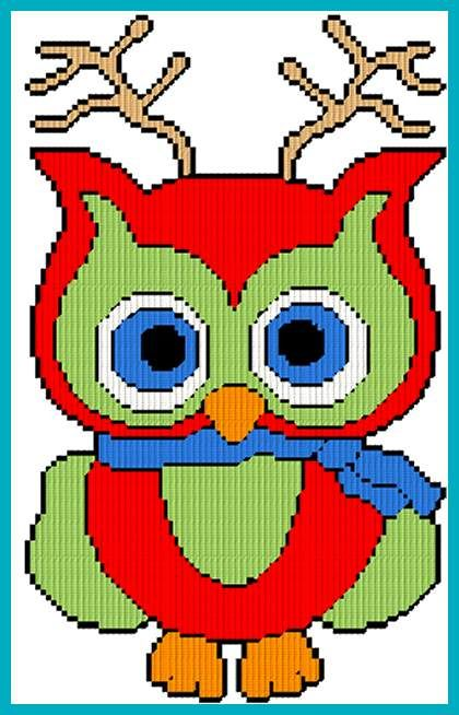 Owlet clipart reindeer Images 1/2 Christmas best Owl