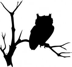 Owlet clipart silhouette Der Flying Owl Silhouette Clip