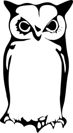 Owlet clipart silhouette Owl clip Pixabay Pinterest Image
