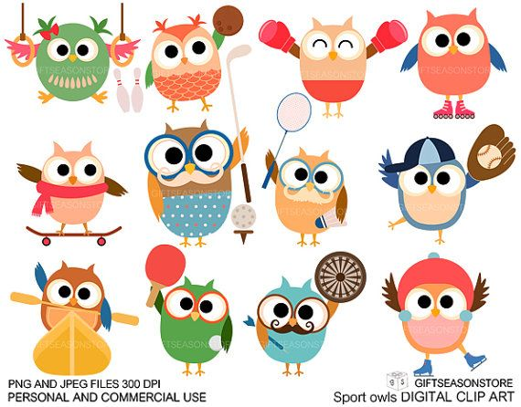 Owlet clipart sport Sport Personal on for Commercial