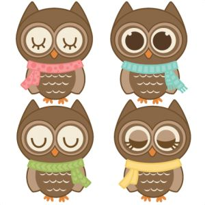 Owlet clipart winter Owls Winter files Pinterest OWL