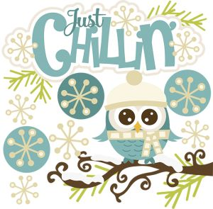 Owlet clipart winter SVG images Chillin' owl art