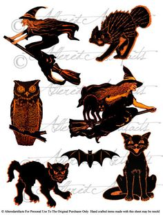 Owlet clipart witch Owls Vintage and Owl and