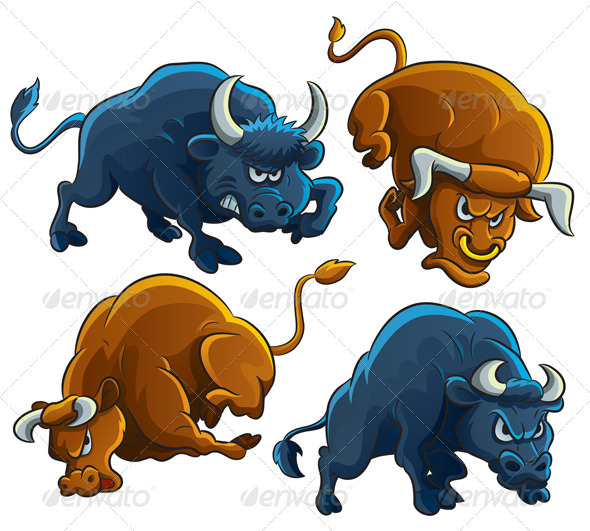 Ox clipart angry animal Html DOWNLOAD Bulls  on
