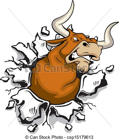 Bull clipart angry bull Through mad Angry Bull Clip