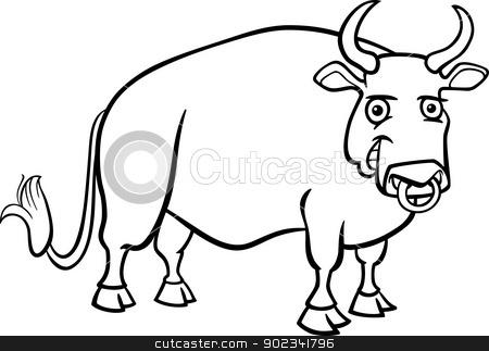 Bull clipart black and white Panda Images Clipart Black Art