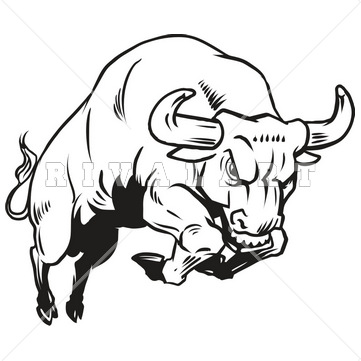 Bull clipart black and white Bull cps Black Clip Drawing