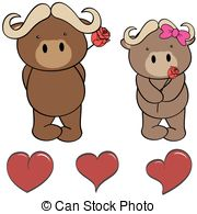 Ox clipart raging bull Vectors heart heart cartoon set