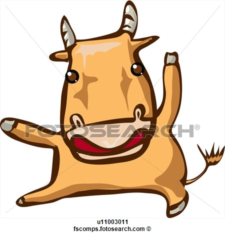 Ox clipart raging bull Fortune ClipartBay land Art com