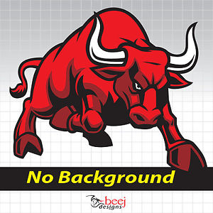 Ox clipart red bull Red sticker Bull Bull 248x210mm