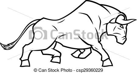 Bull clipart black and white Running the bull Illustration running