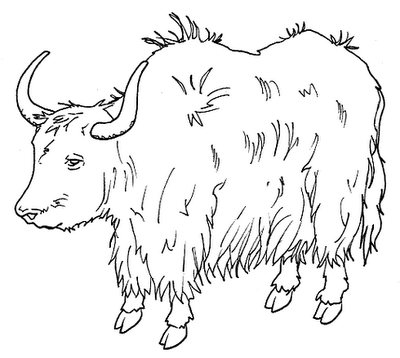 Yak clipart black and white Clipart Clipart Yak Info Black