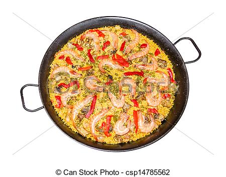 Spanish clipart spanish paella Spanish paella with a Traditional