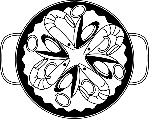 Paella clipart black and white 633 pixels ian × 507