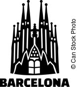 Paella clipart sagrada familia Gaudi Illustration  Art art
