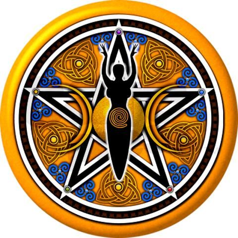 Pagan clipart Com/goldblue_goddess_pentacle_necklace about best · Clip