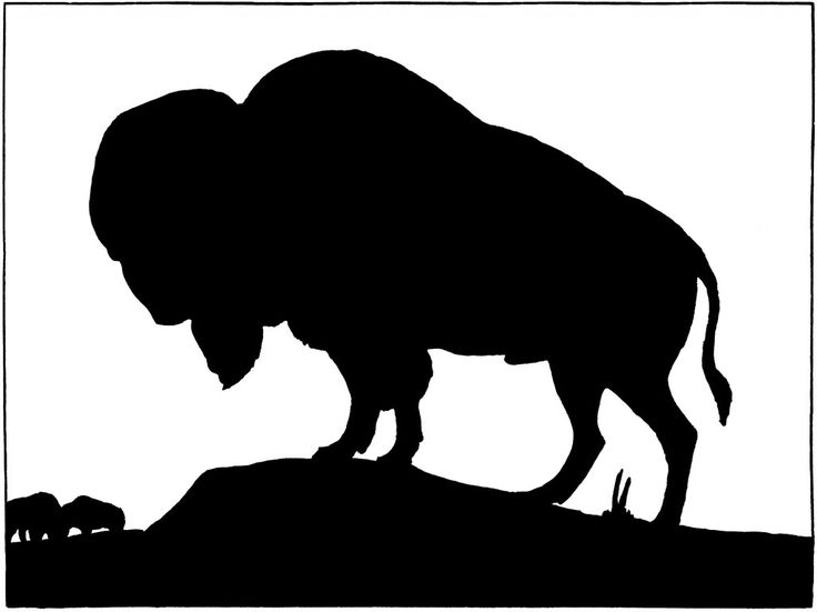 Bison clipart dead SilhouetteSilhouette about Power Animal 217