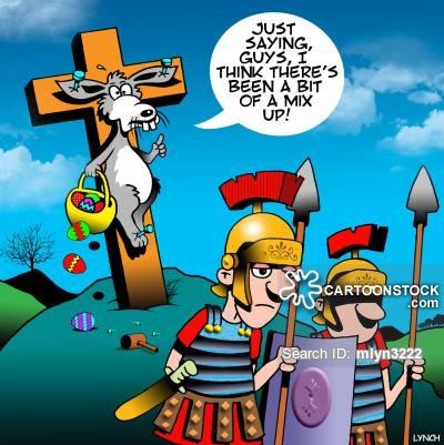 Pagan clipart crucified From cartoon Pagan Comics 1