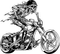 Chopper clipart motorcycle rider Buy Riding Skeleton and Motorcycle